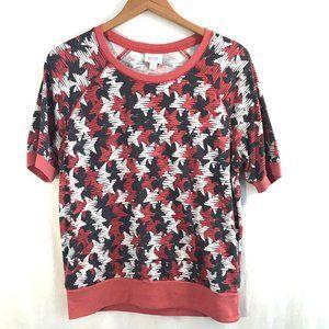 LulaRoe Jane Sweatshirt Americana Top Size M